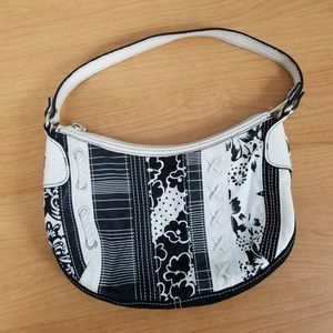 Fossil | Leather & Cloth Floral Small Purse